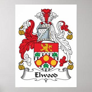 Escudo de la familia de Elwood Impresiones