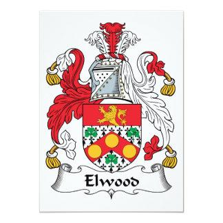 Escudo de la familia de Elwood Invitación 12,7 X 17,8 Cm