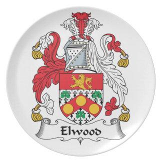 Escudo de la familia de Elwood Plato Para Fiesta