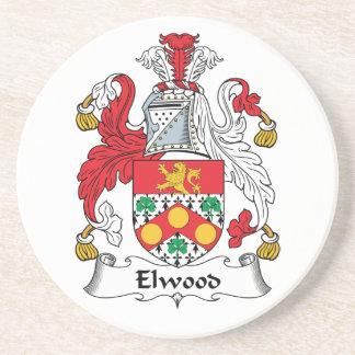 Escudo de la familia de Elwood Posavasos Diseño