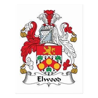 Escudo de la familia de Elwood Postales