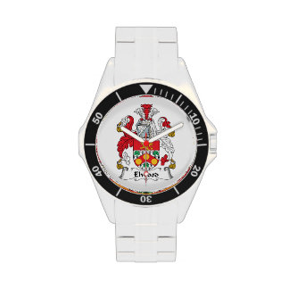 Escudo de la familia de Elwood Relojes De Mano