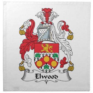 Escudo de la familia de Elwood Servilletas