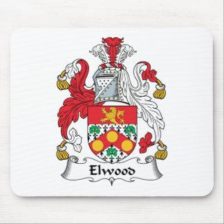 Escudo de la familia de Elwood Tapetes De Raton