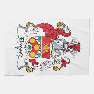 Escudo de la familia de Elwood Toallas De Cocina