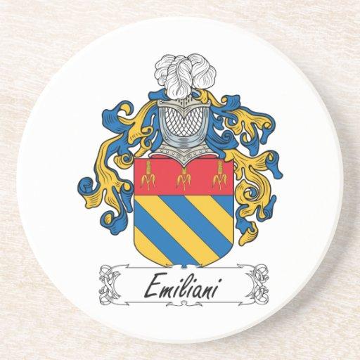 Escudo de la familia de Emiliani Posavasos Manualidades