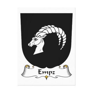 Escudo de la familia de Empz Lona Envuelta Para Galerías