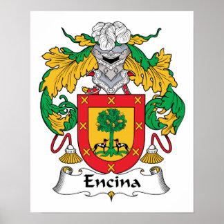 Escudo de la familia de Encina Posters