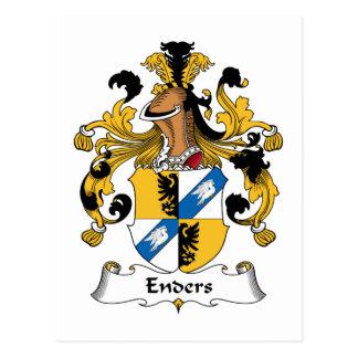 Escudo de la familia de Enders Tarjeta Postal