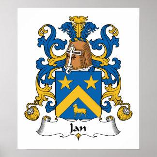 Escudo de la familia de enero póster