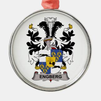 Escudo de la familia de Engberg Adorno Redondo Plateado