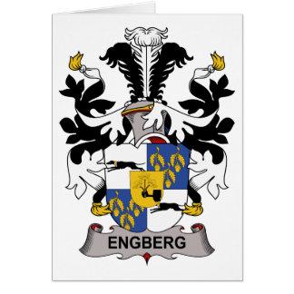 Escudo de la familia de Engberg Felicitación