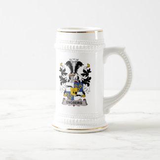 Escudo de la familia de Engberg Tazas De Café