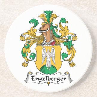 Escudo de la familia de Engelberger Posavasos Para Bebidas