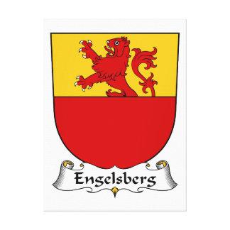 Escudo de la familia de Engelsberg Lona Estirada Galerías