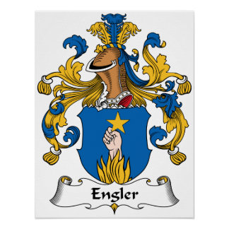 Escudo de la familia de Engler Póster