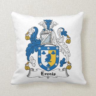 Escudo de la familia de Ennis Cojín Decorativo