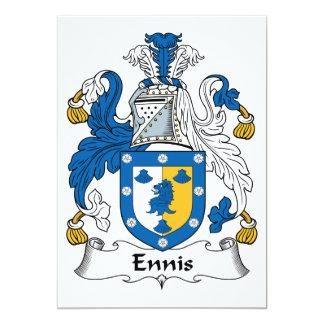 Escudo de la familia de Ennis Invitación 12,7 X 17,8 Cm