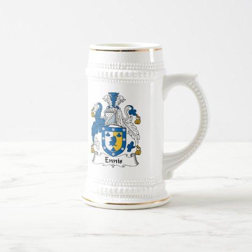 Escudo de la familia de Ennis Jarra De Cerveza