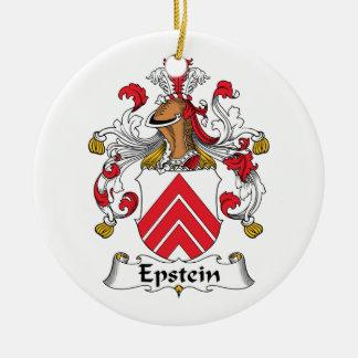 Escudo de la familia de Epstein Adorno Redondo De Cerámica