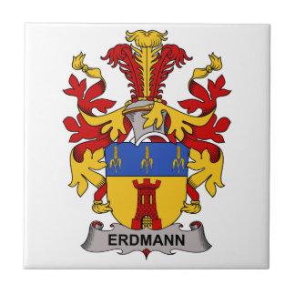 Escudo de la familia de Erdmann Azulejo Cuadrado Pequeño