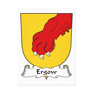Escudo de la familia de Ergow Lona Estirada Galerias
