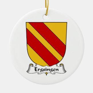 Escudo de la familia de Ergsingen Adorno Redondo De Cerámica