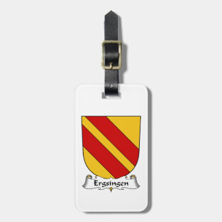 Escudo de la familia de Ergsingen Etiquetas Para Equipaje
