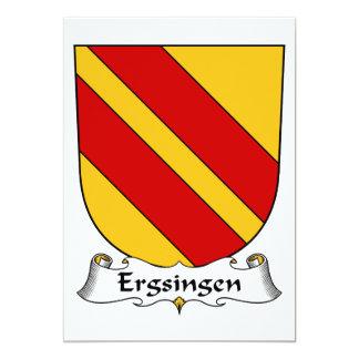 """Escudo de la familia de Ergsingen Invitación 5"""" X 7"""""""
