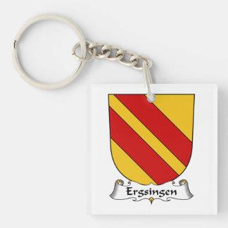 Escudo de la familia de Ergsingen Llavero Cuadrado Acrílico A Una Cara