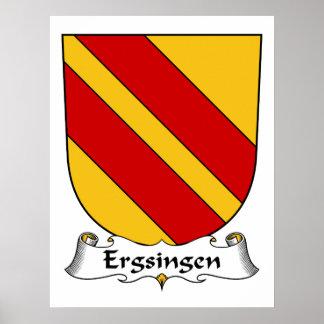 Escudo de la familia de Ergsingen Poster