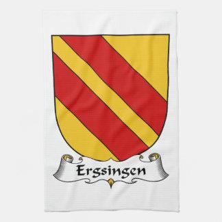 Escudo de la familia de Ergsingen Toalla De Mano