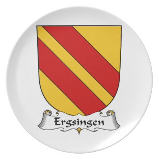 Escudo de la familia de Ergsingen Platos Para Fiestas