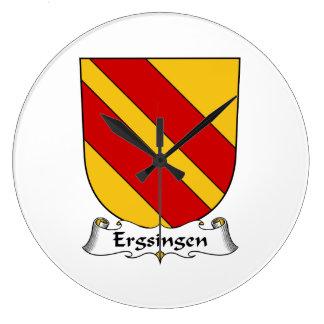 Escudo de la familia de Ergsingen Relojes De Pared
