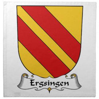 Escudo de la familia de Ergsingen Servilletas