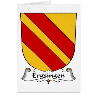 Escudo de la familia de Ergsingen Tarjetas