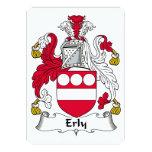 Escudo de la familia de Erly Invitación 12,7 X 17,8 Cm