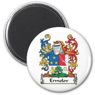 Escudo de la familia de Ermolov Imán Redondo 5 Cm