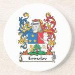 Escudo de la familia de Ermolov Posavasos Para Bebidas