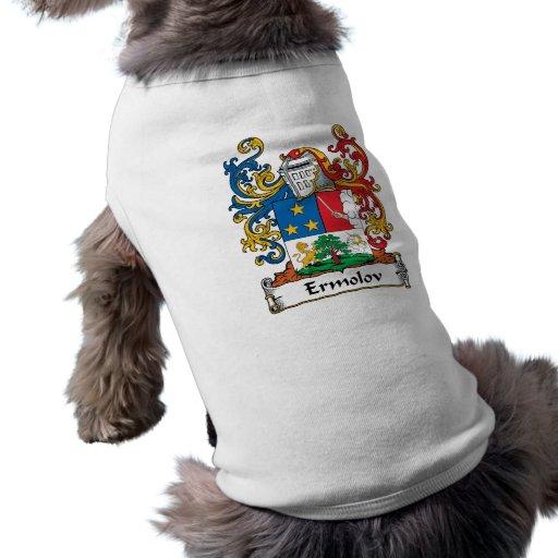 Escudo de la familia de Ermolov Ropa Para Mascota