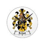 Escudo de la familia de Ernst Reloj De Pared