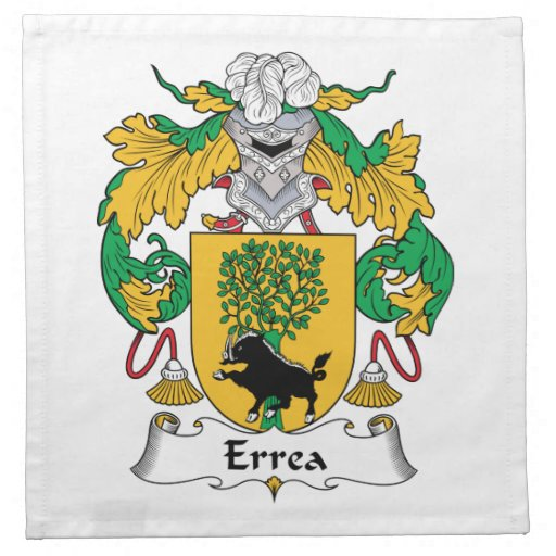 Escudo de la familia de Errea Servilleta De Papel