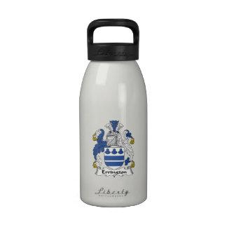 Escudo de la familia de Errington Botella De Agua