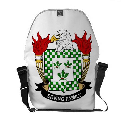 Escudo de la familia de Erving Bolsa De Mensajeria