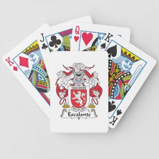 Escudo de la familia de Escalante Baraja Cartas De Poker