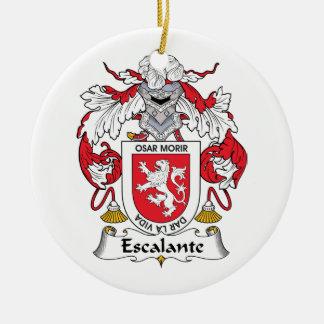 Escudo de la familia de Escalante Adorno Redondo De Cerámica