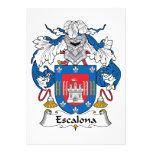Escudo de la familia de Escalona Invitación