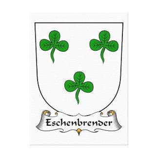 Escudo de la familia de Eschenbrender Lona Envuelta Para Galerías