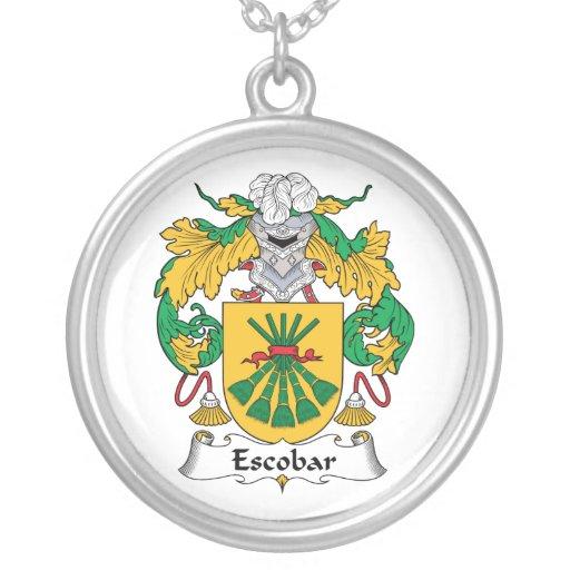 Escudo de la familia de Escobar Pendientes Personalizados