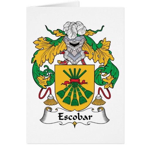 Escudo de la familia de Escobar Felicitación